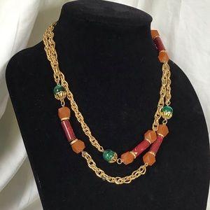 Vintage 1928 Gold Rope Regency Necklace